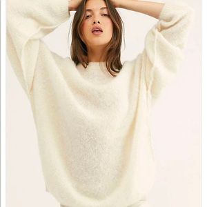 FREE PEOPLE Angelic Pullover Soft Alpaca Sweater